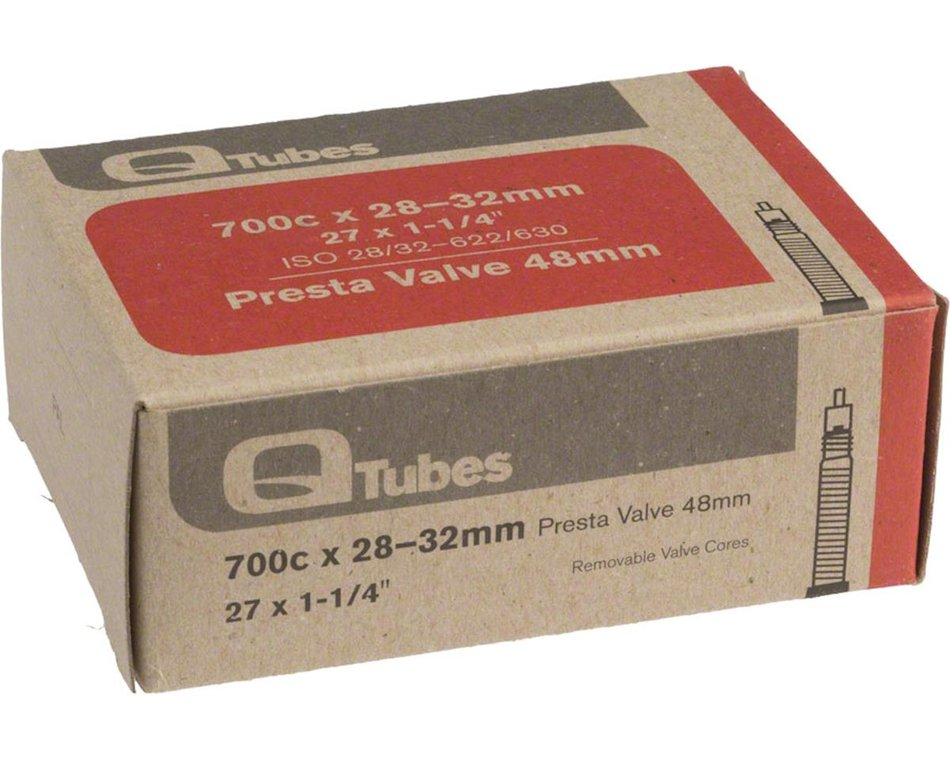Ryder Presta Valve Bicycle Tube with Removable Valve Core 48mm Pack of 2 700C