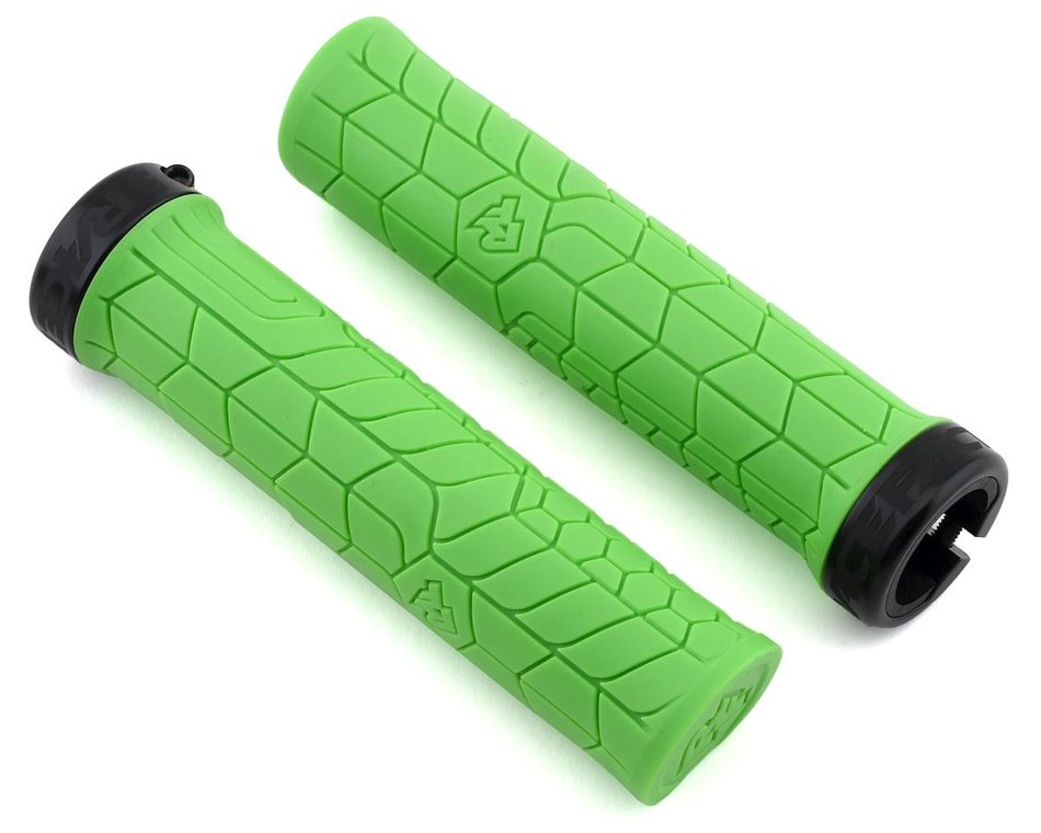 Race Face Getta Grip Lock-On Grips, Yellow//Black 30mm