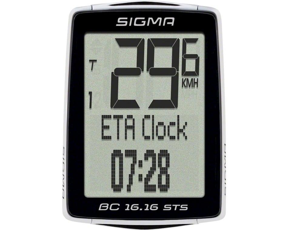 Wireless Black Sigma BC 16.16 STS Bike Computer