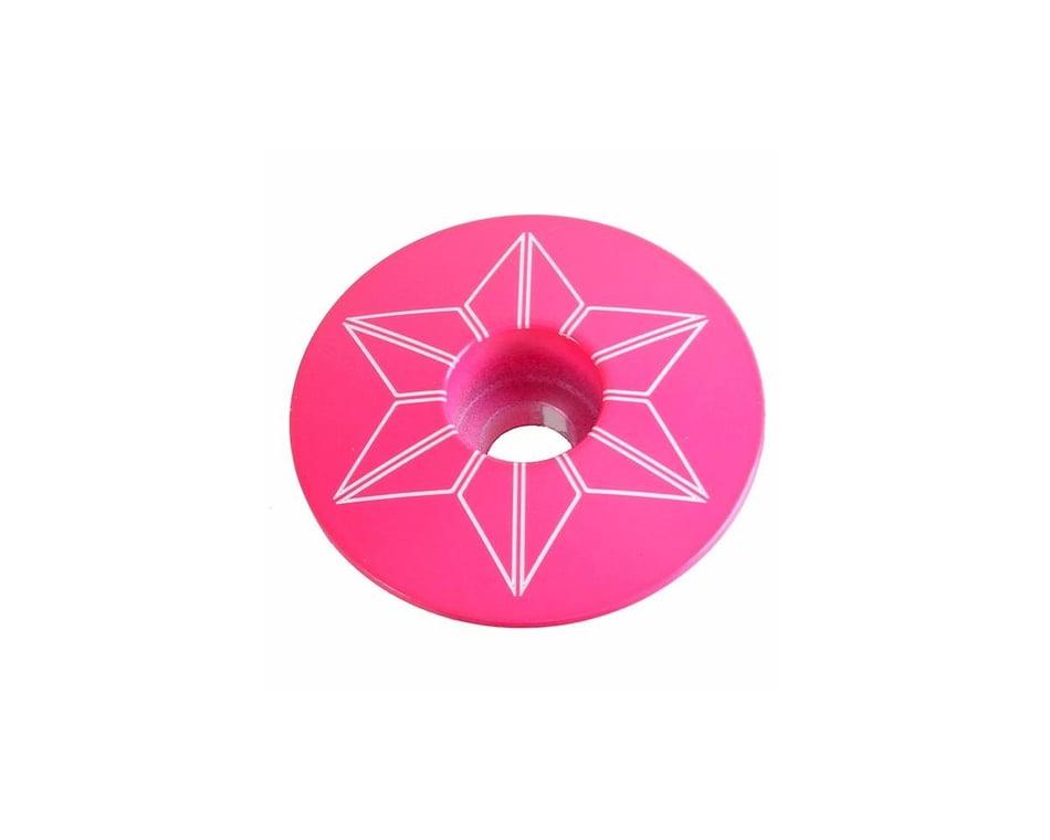 Supacaz Star Plugz Powder Coated Hot Pink