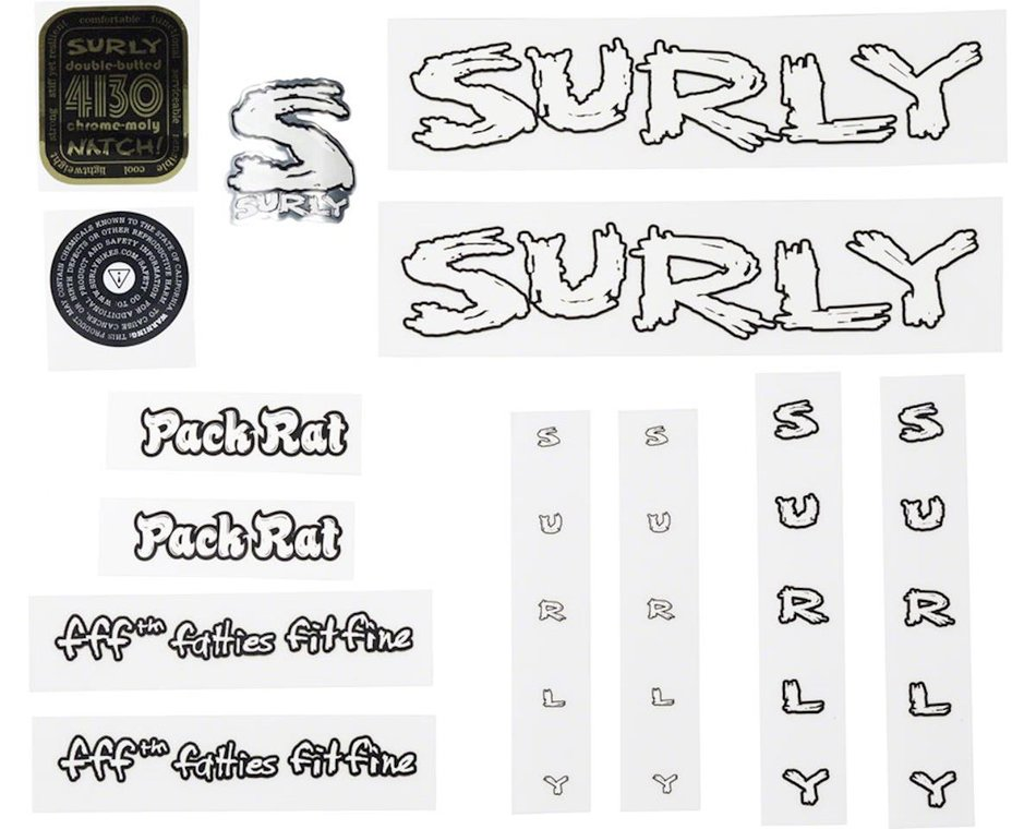 Surly Frame Decal Kit Pack Rat