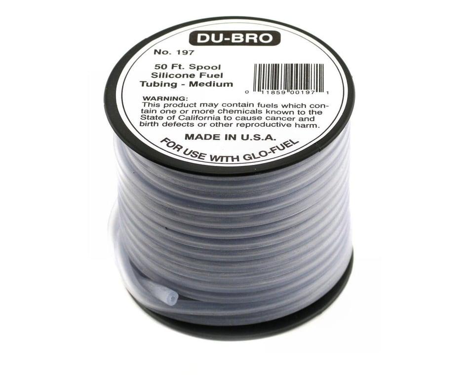 Dubro 197 Medium 50 feet Silicone Fuel Tubing for Glo fuel