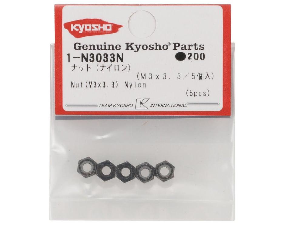 5 Piece Kyosho 1-N3033N M3x3.3mm Nylon Nut