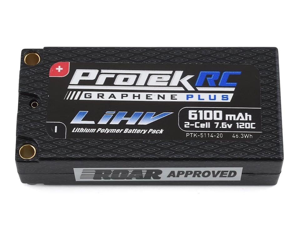 ProTek RC 2S 120C Low IR Si-Graphene + HV Shorty LiPo Battery (7.6V/6100mAh)