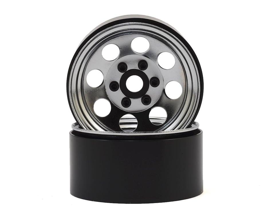 SSD 2.2 inch D Hole Beadlock Wheels Black 1:10 RC Cars Crawler Truck #SSD00156