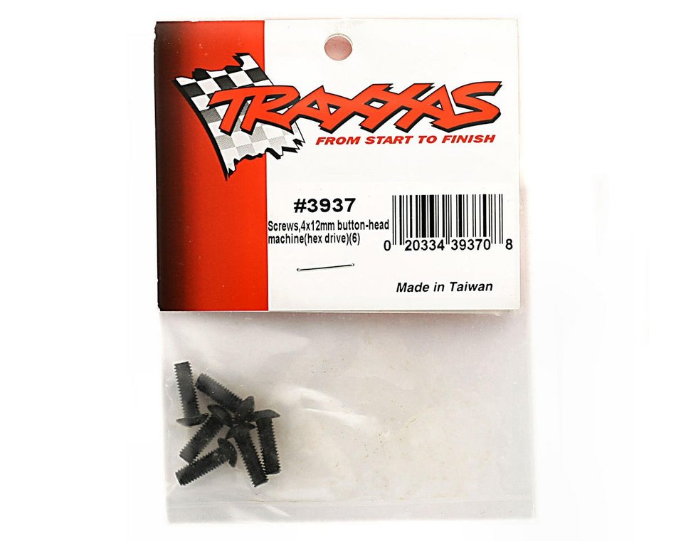6 Traxxas 3938 Screw 4x14mm Buttonhead :SLY