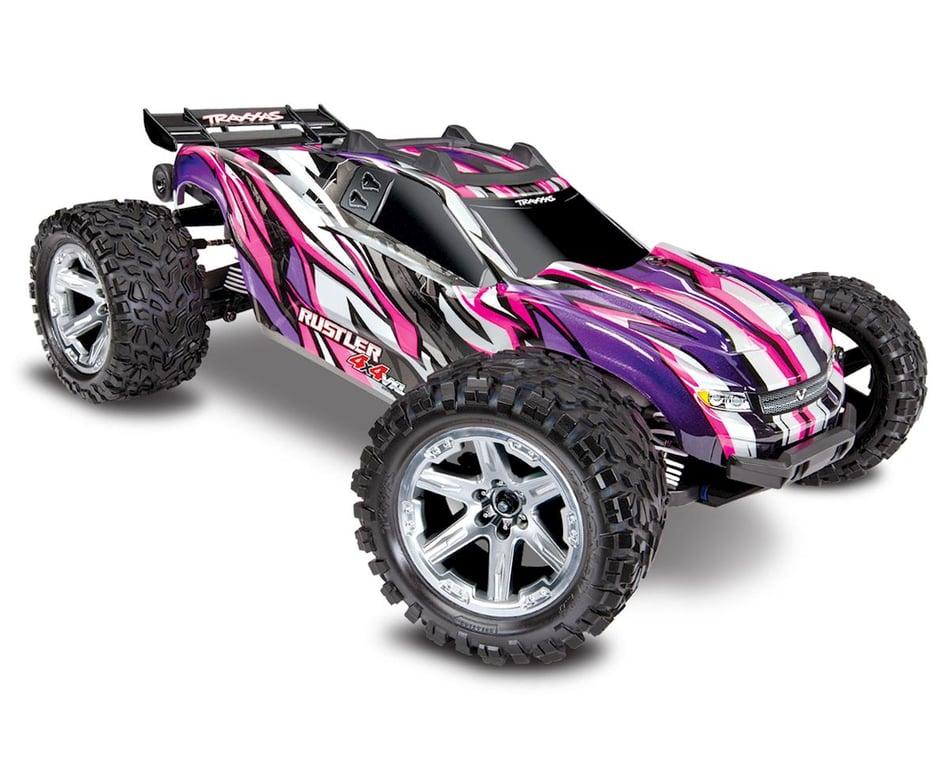 Traxxas Rustler 4x4 Vxl Brushless Rtr 1 10 4wd Stadium Truck Pink Tra67076 4 Pink Cars Trucks Amain Hobbies