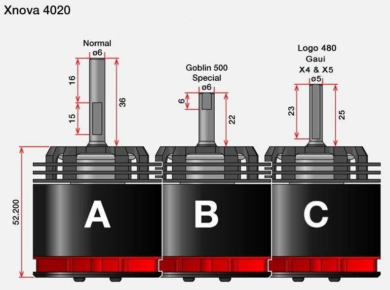 4020-1200KV_2Y_Shaft_Diagram