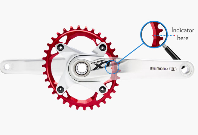 104bcd oval chainring mounting instruction absoluteblack