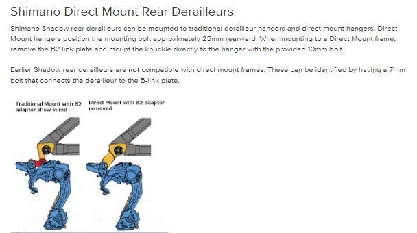 Direct Mount Derailleur