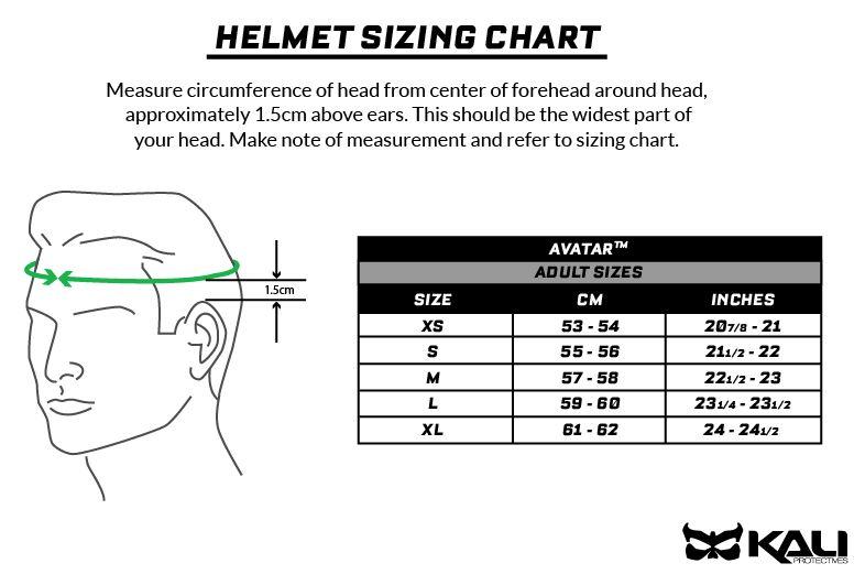 kali avatar size chart