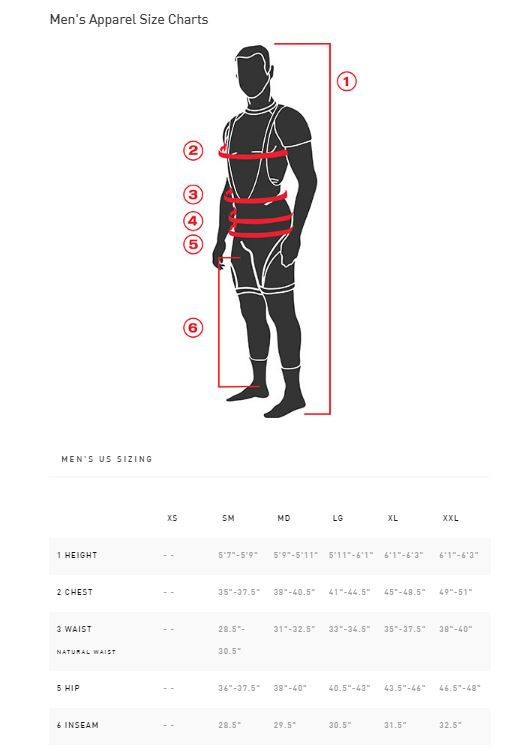 Specialized Mens Sizing