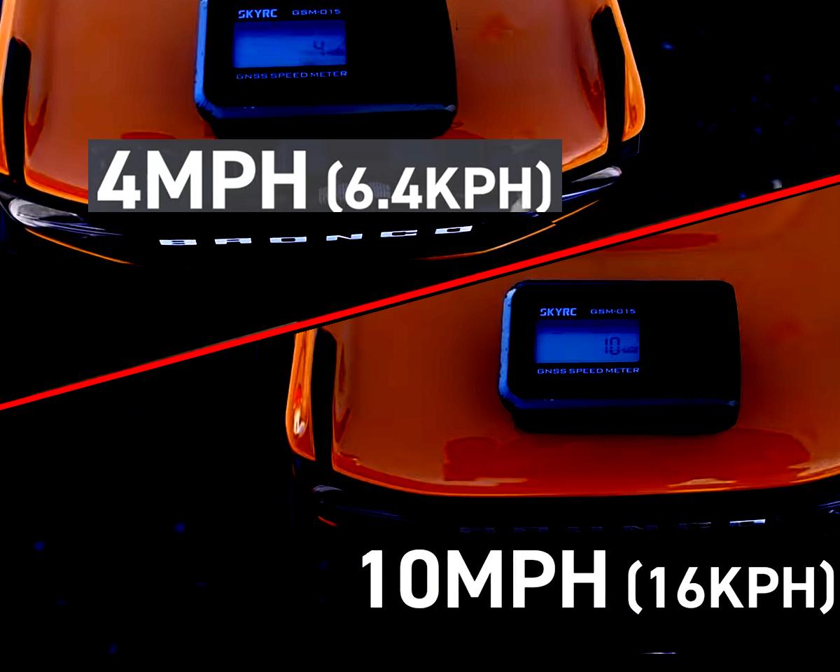 TRX4 Bronco speed test