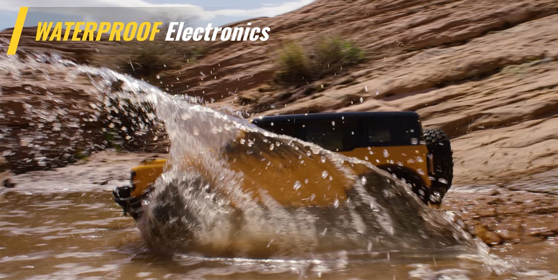 The TRX4 Bronco is waterproof
