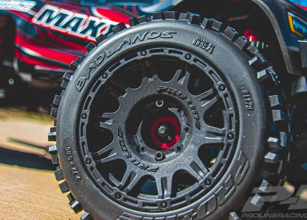 Pro-Line Badlands 3.8 Premounted Truck Tires with Raid Wheels