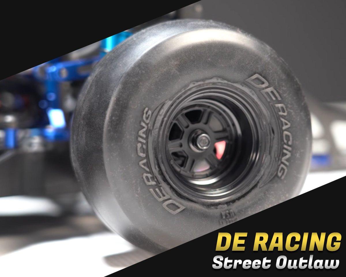 DE Racing Street Outlaw Rear Tires (2) (Clay) DER-OSR3-C1