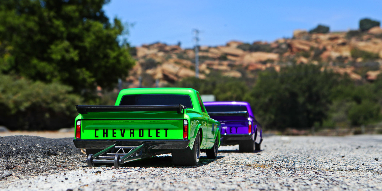 Green and Purple Drag Slashes