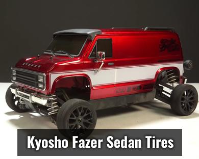 Kyosho Fazer Pre-Mounted Sedan Tires w/15 Spoke Wheels (2) (Black) (12mm Hex)