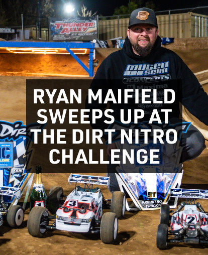Ryan Maifield sweeps up at The Dirt Nitro Challenge