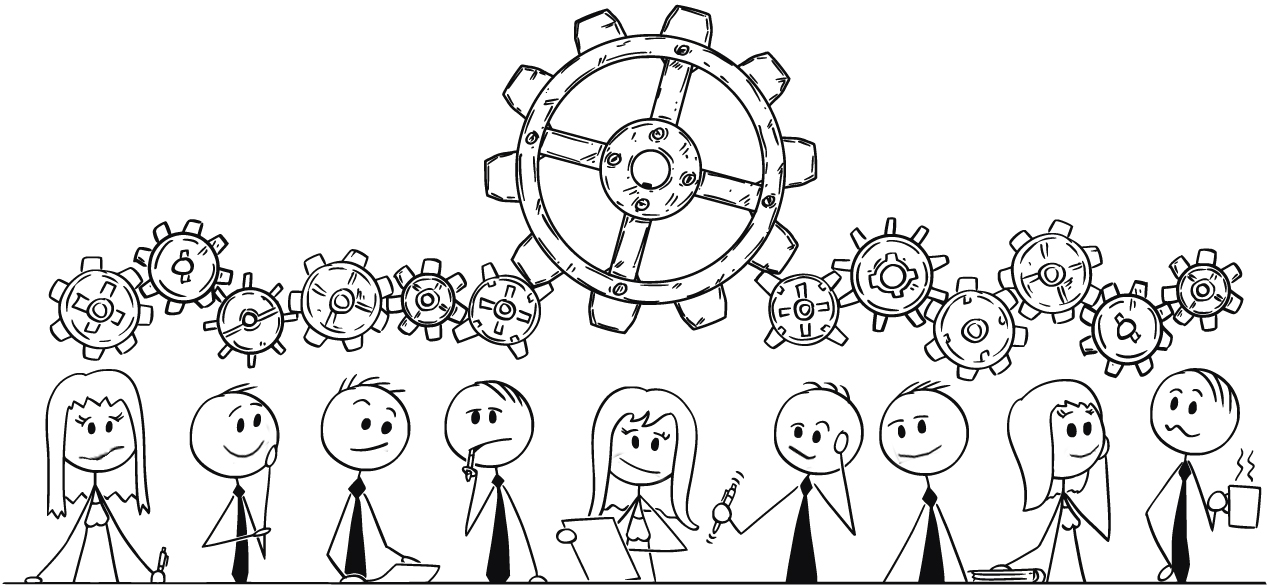 Team Review Cartoon