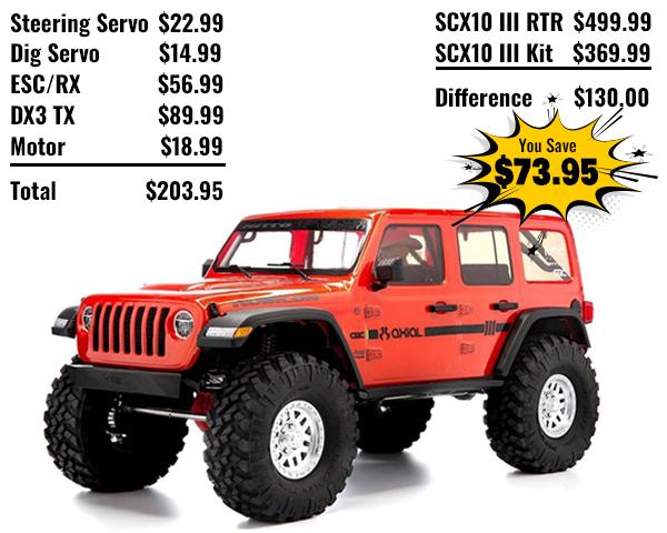 SCX10 RTR vs. Kit Savings
