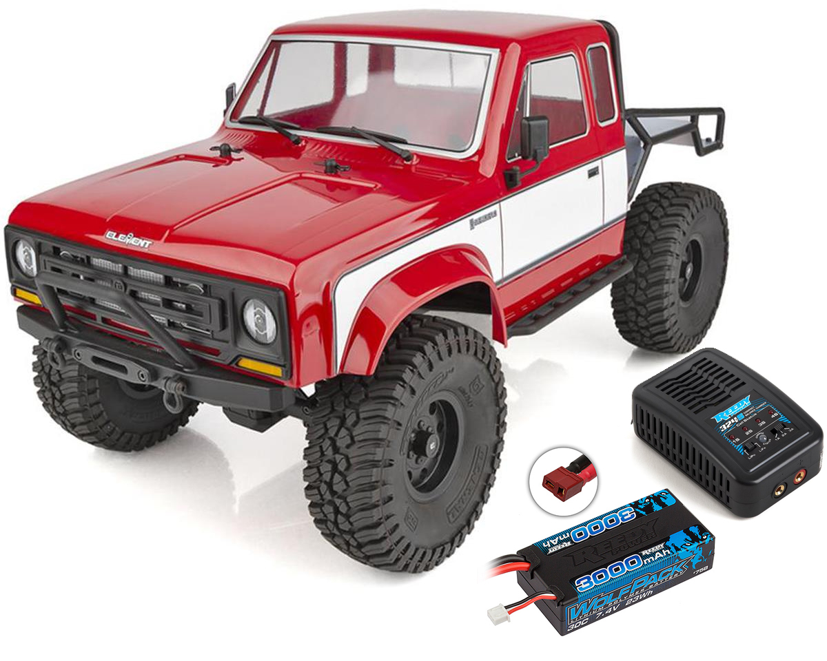 Element RC Enduro Sendero HD 4x4 RTR Rock Crawler Combo Red with 2.4GHz Radio, Battery and Charger ASC40105C