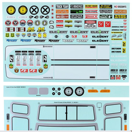 Decal Sheet Included