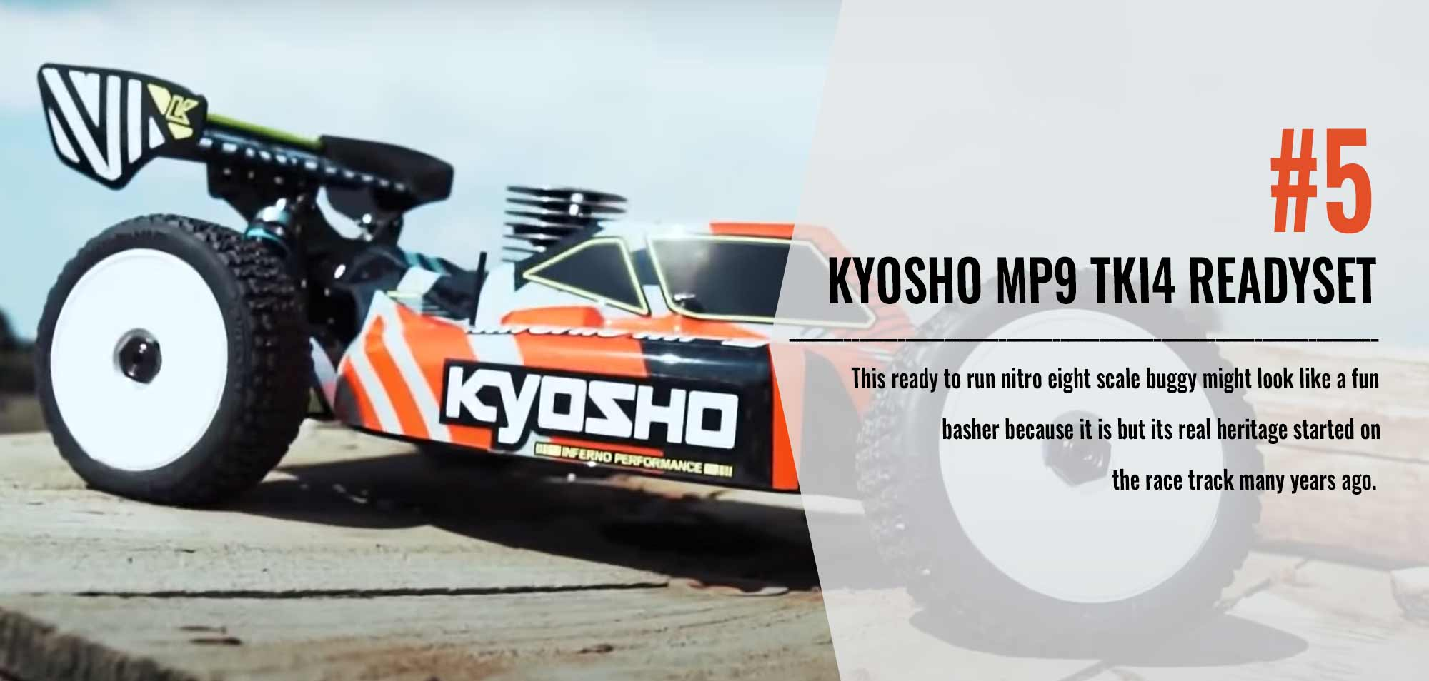 Number Five in our Top 10 List - Kyosho MP9 TKI4