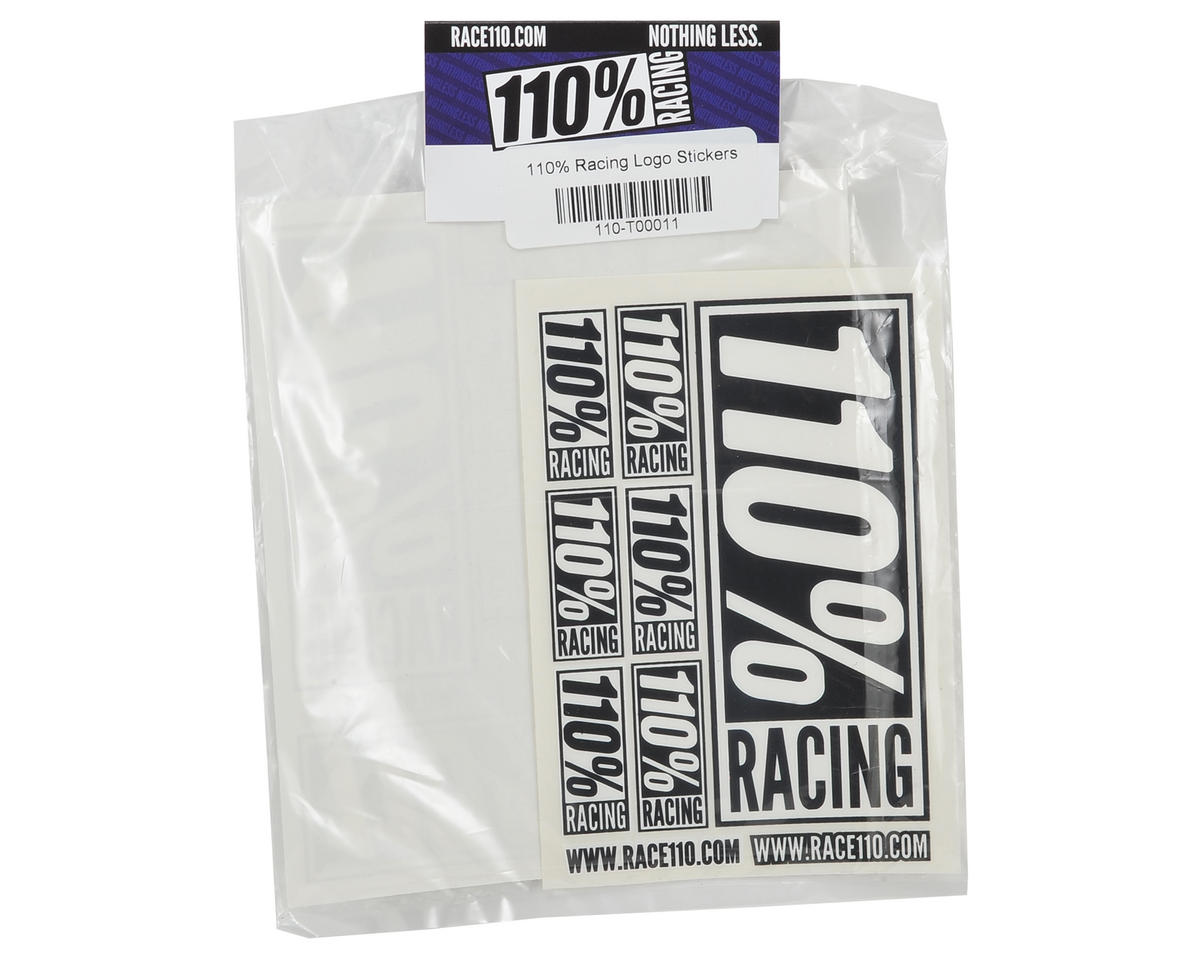 110% Racing Logo Sticker Pack (2)