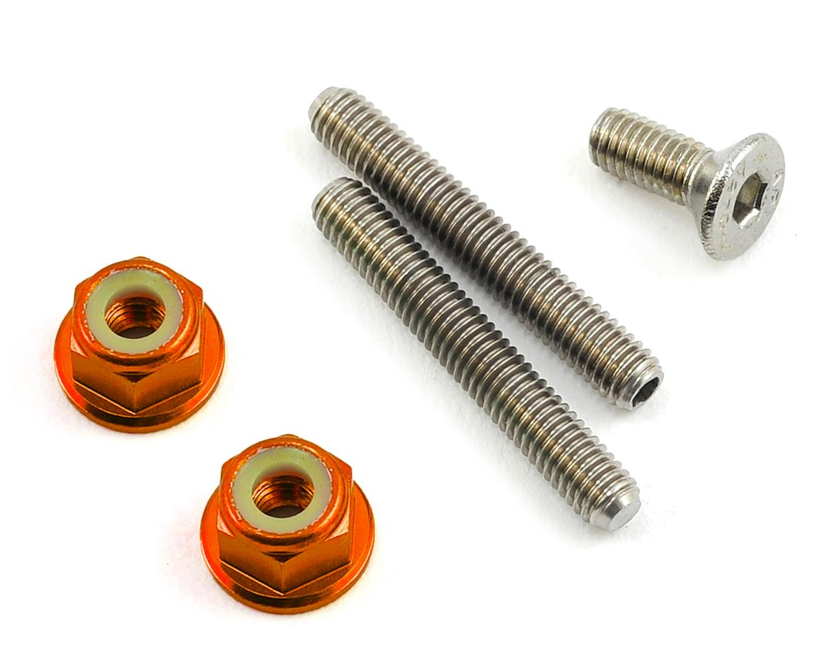 175RC Titanium Lower Arm Stud Kit (Orange) (Kyosho Ultima RB6.6)