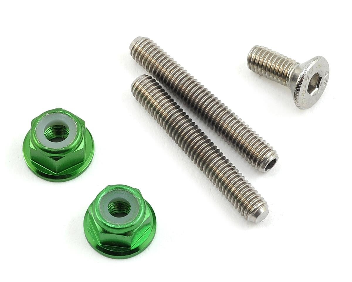 175RC Titanium Lower Arm Stud Kit (Green) (Serpent Spyder SRX-2 MH)