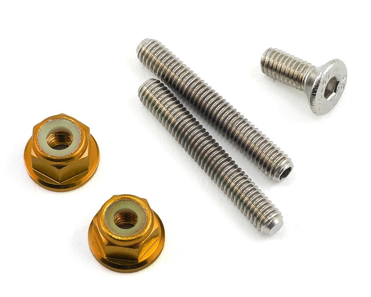 175RC Titanium Lower Arm Stud Kit (Gold)