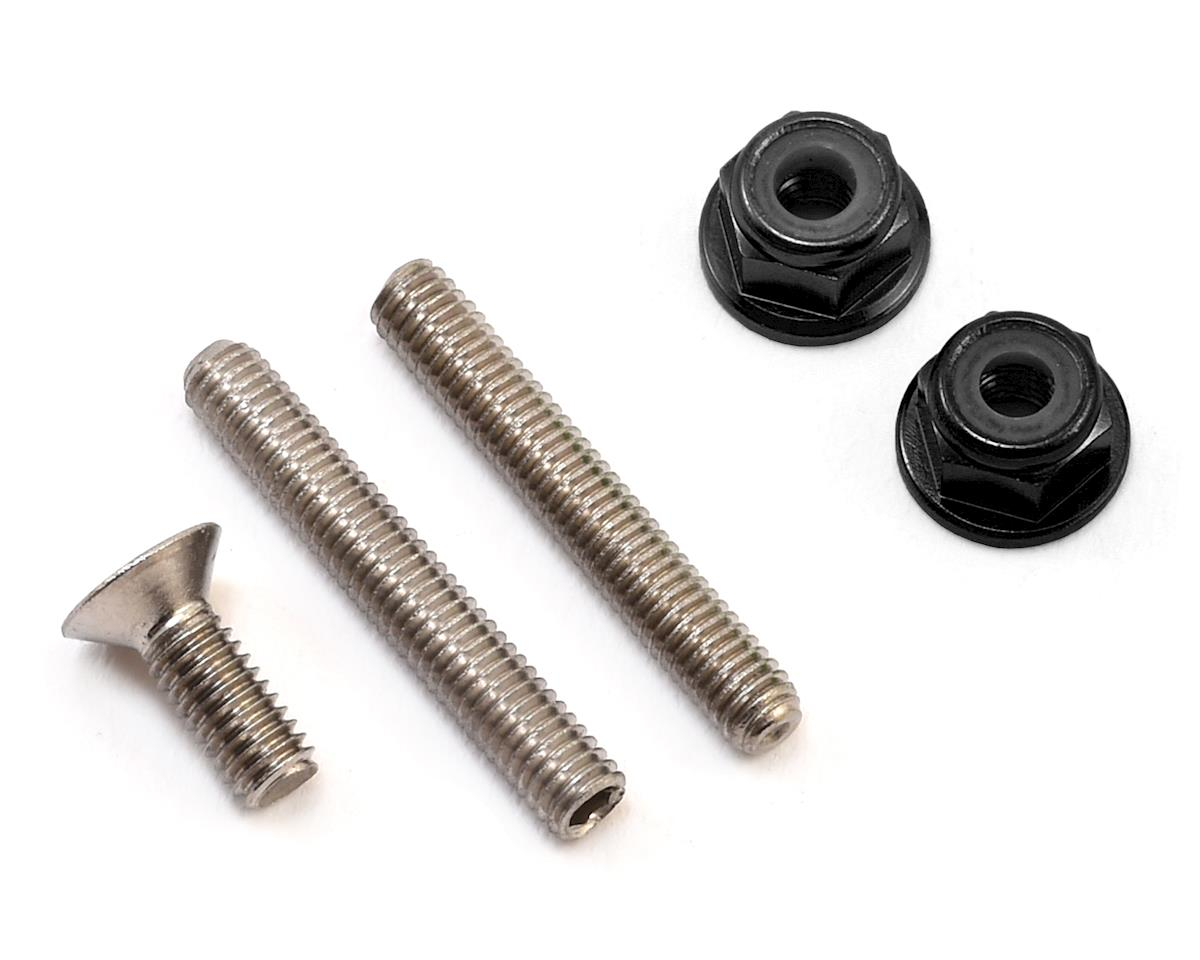 "175RC ""Ti-Look"" Lower Arm Stud Kit (Black) (Team Associated RC10 T5M)"