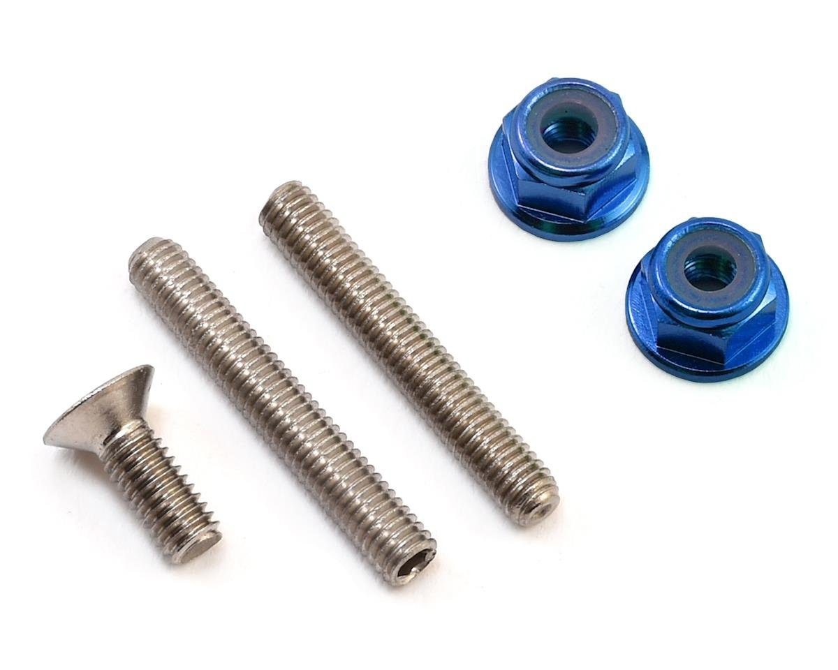 "175RC ""Ti-Look"" Lower Arm Stud Kit (Blue) (Team Associated RC10 T5M)"