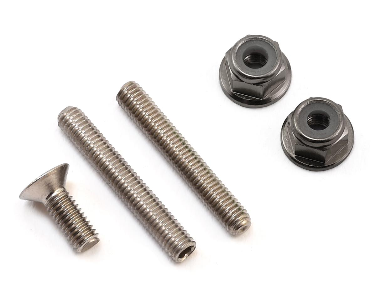 "175RC ""Ti-Look"" Lower Arm Stud Kit (Grey) (Team Associated RC10 T5M)"