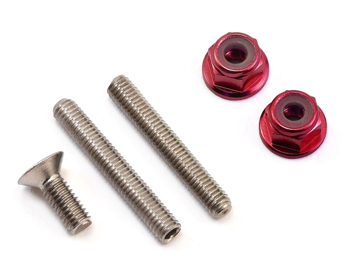 "175RC ""Ti-Look"" Lower Arm Stud Kit (Red) (Team Associated RC10 T5M)"