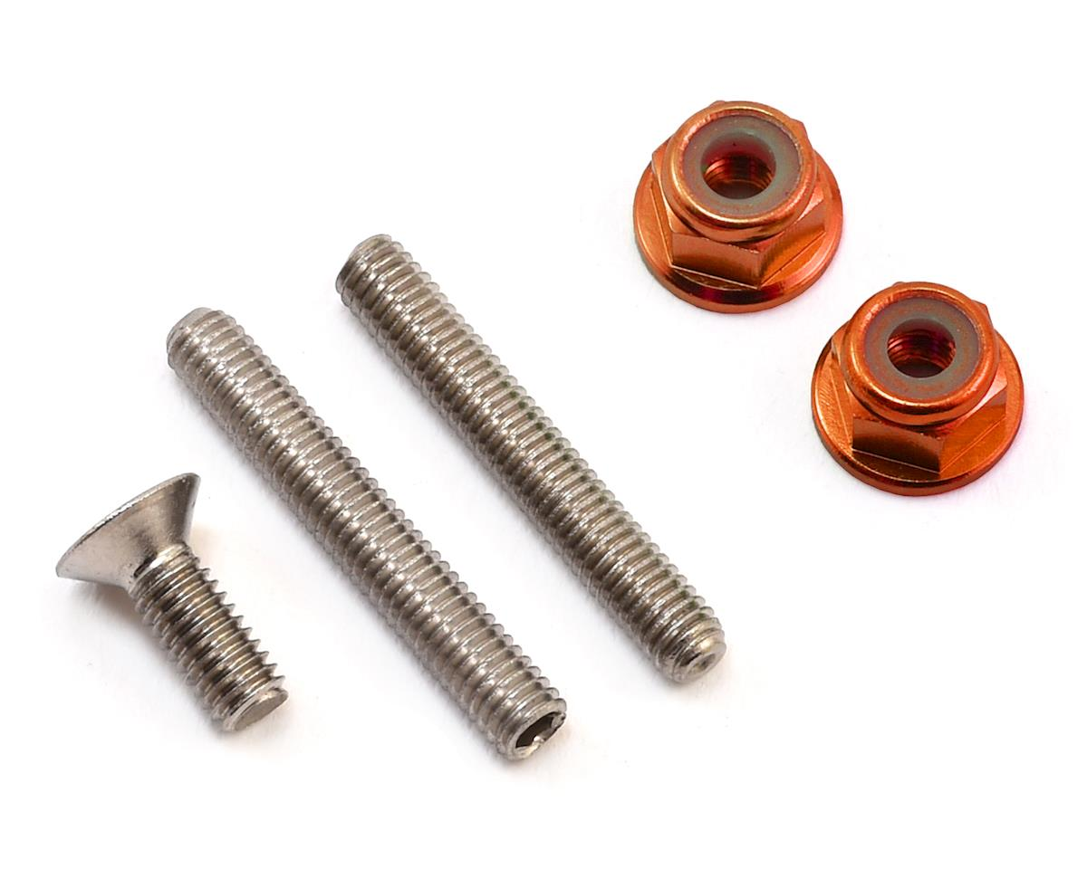 "175RC ""Ti-Look"" Lower Arm Stud Kit (Orange) (Team Associated RC10 B64D)"