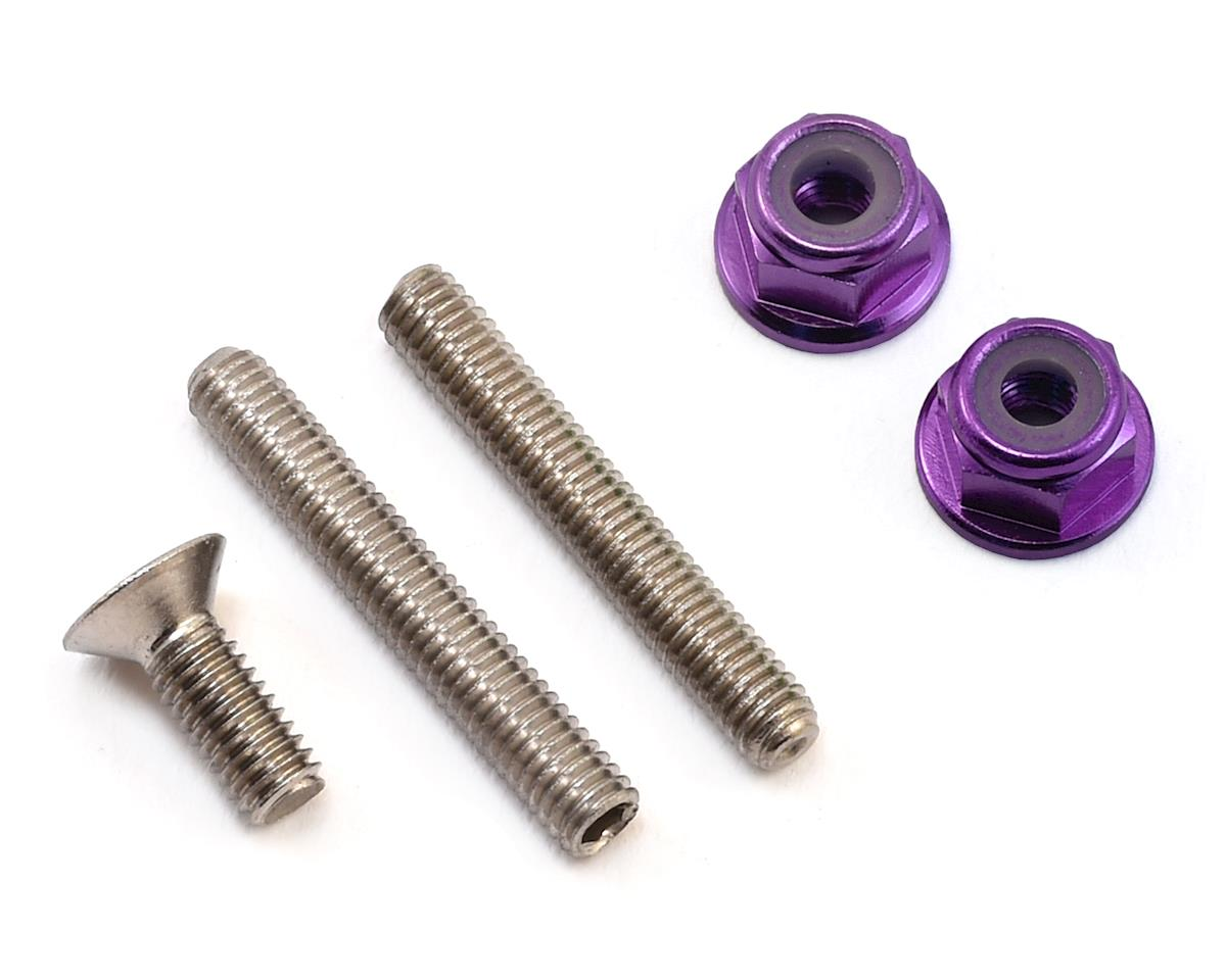 "175RC ""Ti-Look"" Lower Arm Stud Kit (Purple) (Team Associated RC10 T5M)"