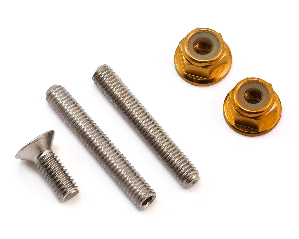 "175RC ""Ti-Look"" Lower Arm Stud Kit (Gold) (Team Associated RC10 B64D)"