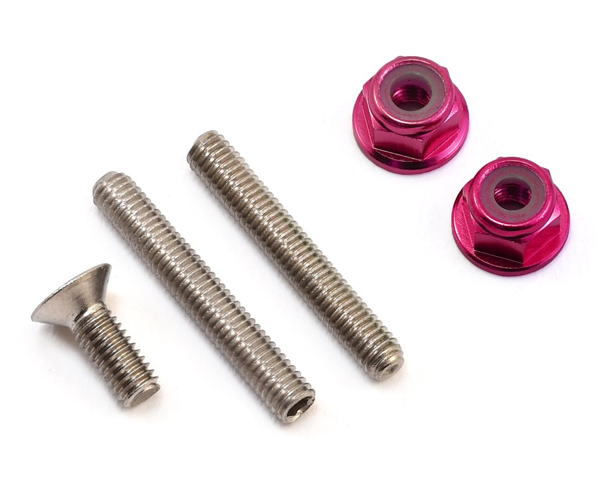 "175RC ""Ti-Look"" Lower Arm Stud Kit (Pink) (Team Associated RC10 T5M)"