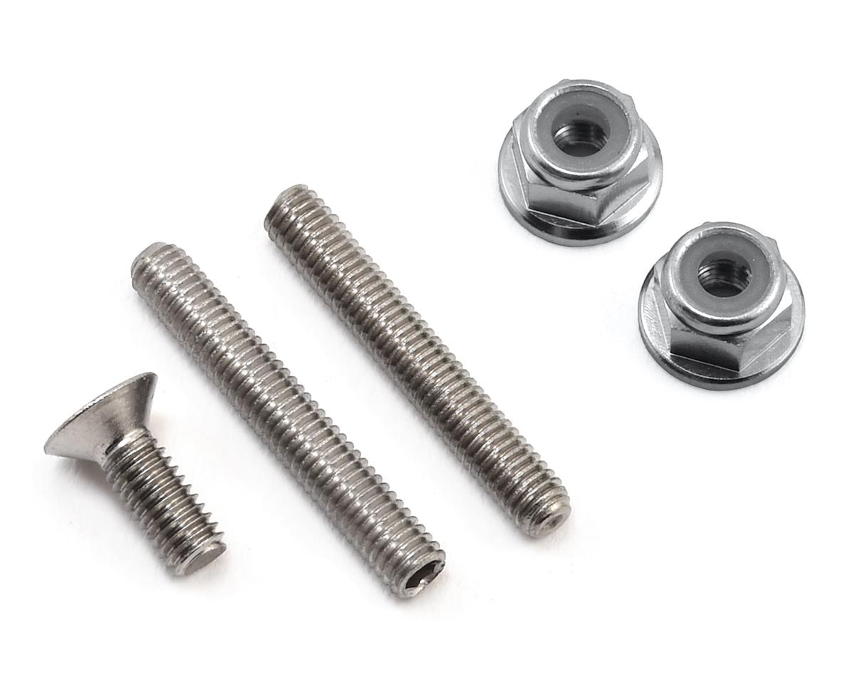 "175RC ""Ti-Look"" Lower Arm Stud Kit (Silver) (Team Associated RC10 T5M)"