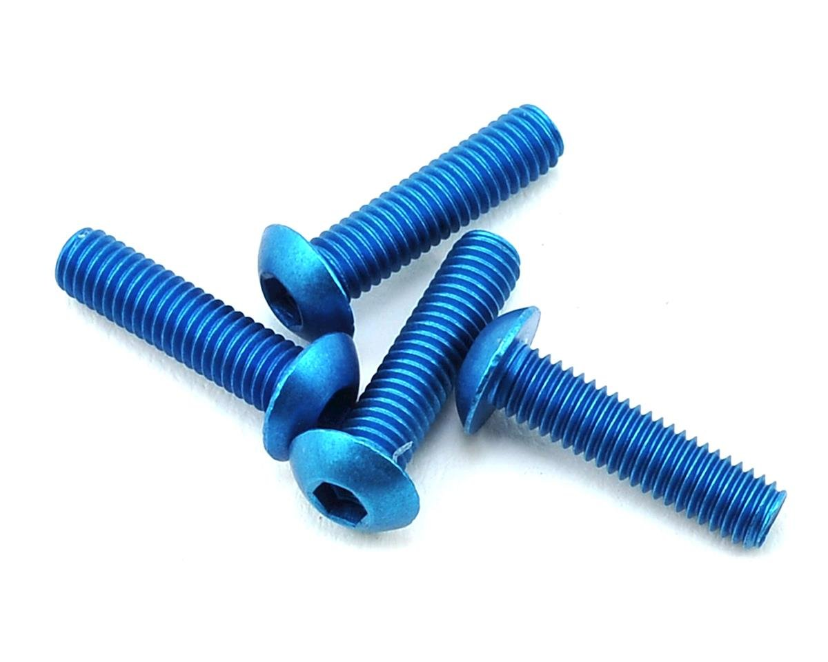 175RC B6 Lightweight Wing Mount Screws (Blue) (4)
