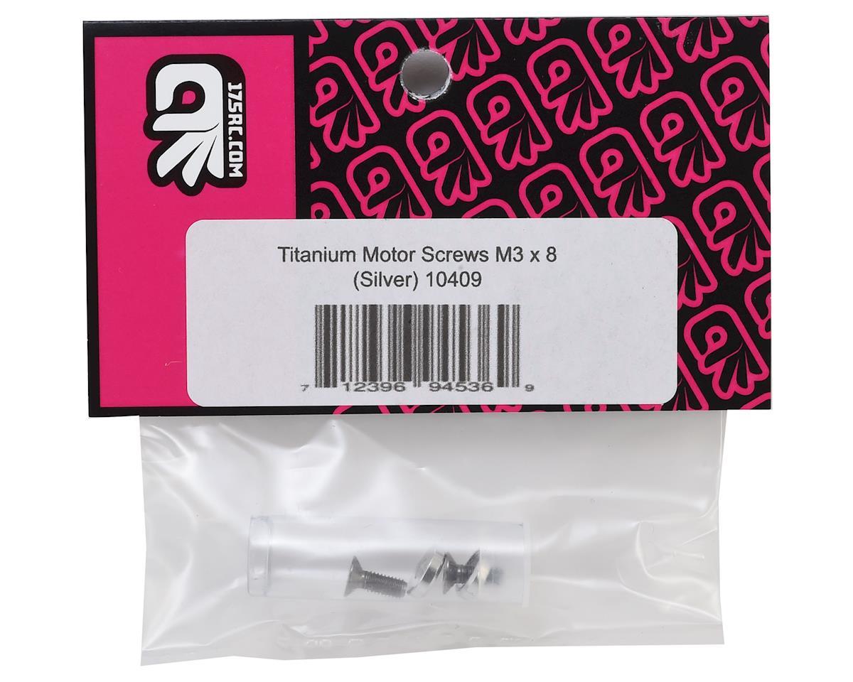 175RC 3x8mm Titanium Flat Head Motor Screws w/Aluminum Washers (Silver) (2)