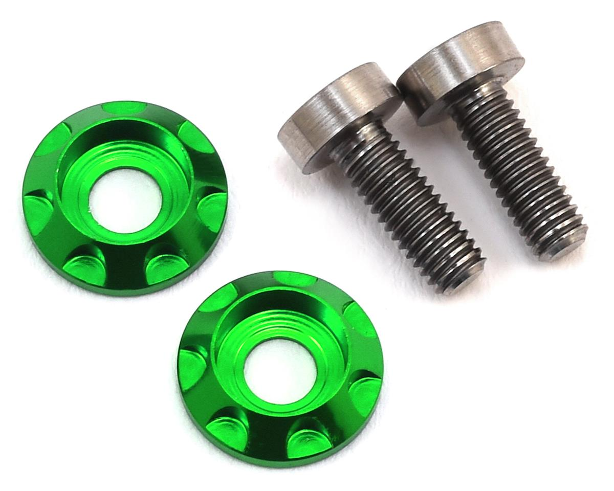"3x8mm Titanium ""High Load"" Motor Screws (Green) by 175RC"