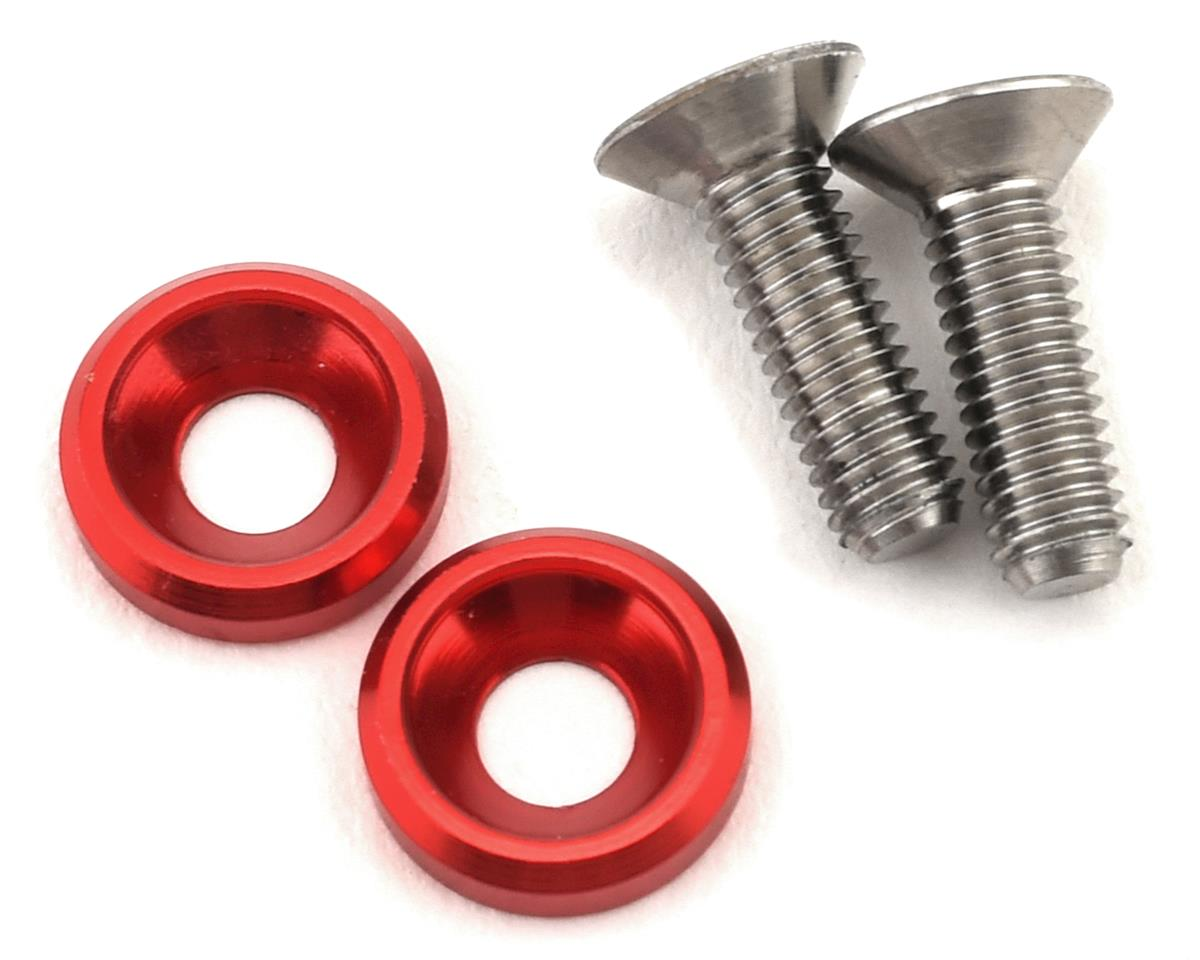 175RC 3x10mm Titanium Motor Screws (Red)