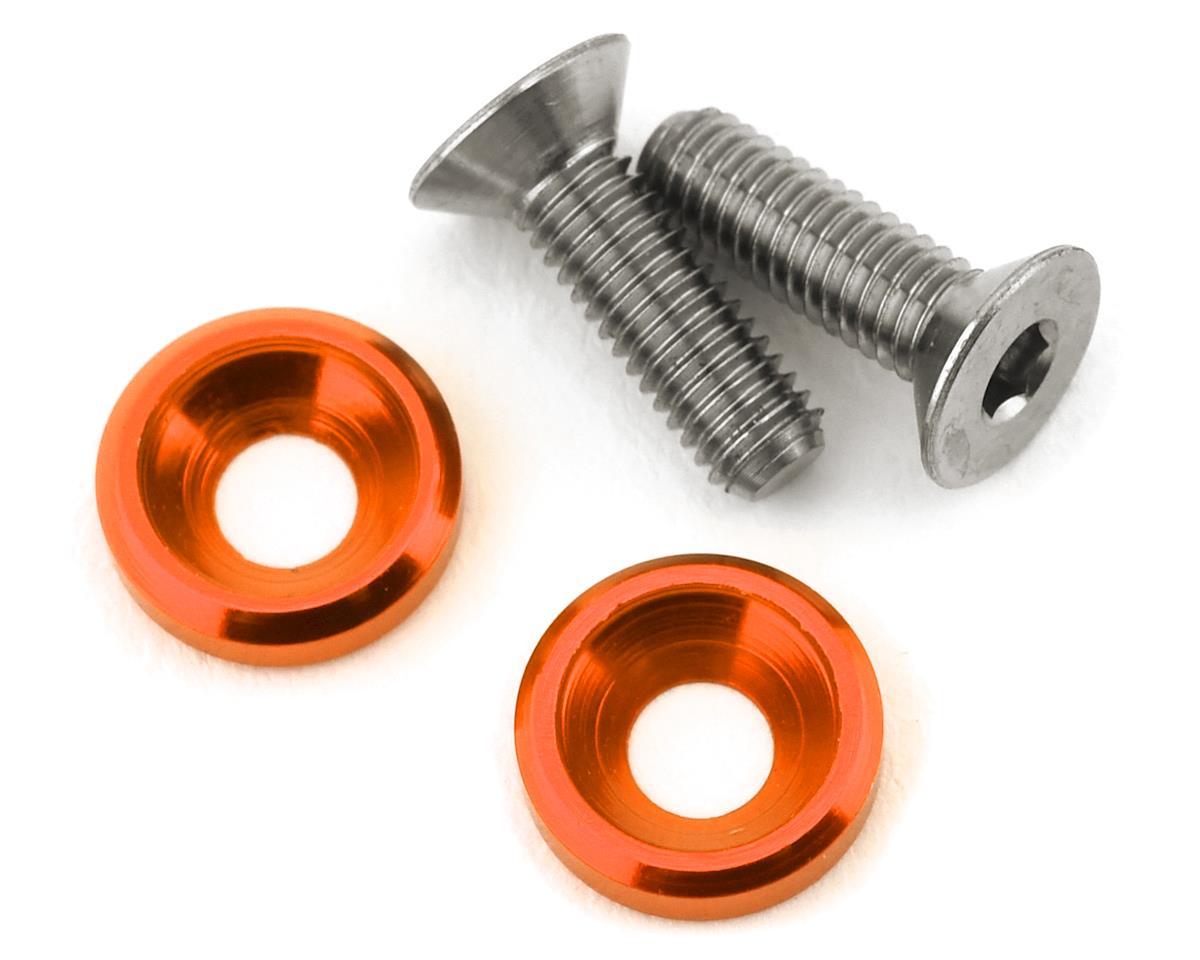 175RC 3x10mm Titanium Motor Screws (Orange) (2)