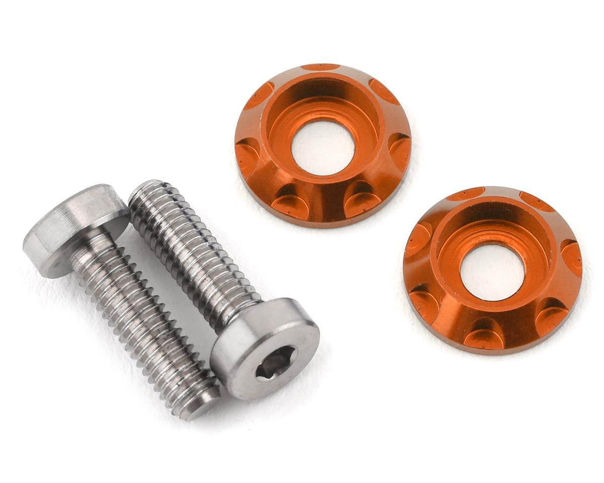 """175RC 3x10mm """"High Load"""" Titanium Motor Screws (Orange)"""