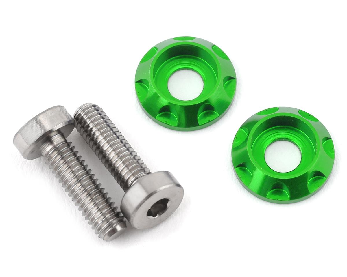 "175RC 3x10mm ""High Load"" Titanium Motor Screws (Green)"