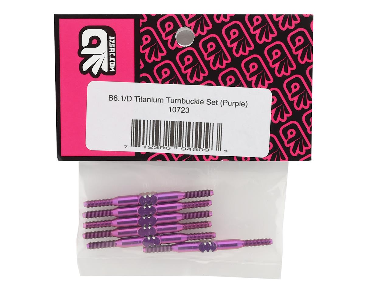 175RC B6.1/B6.1D Titanium Turnbuckle Set (Purple) (6)