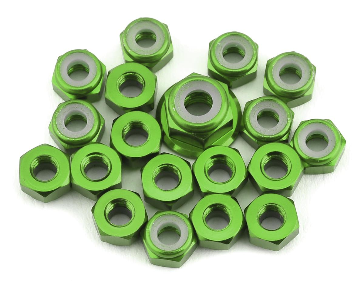 175RC TLR 22 5.0 Aluminum Nut Kit (Green) (19) | relatedproducts